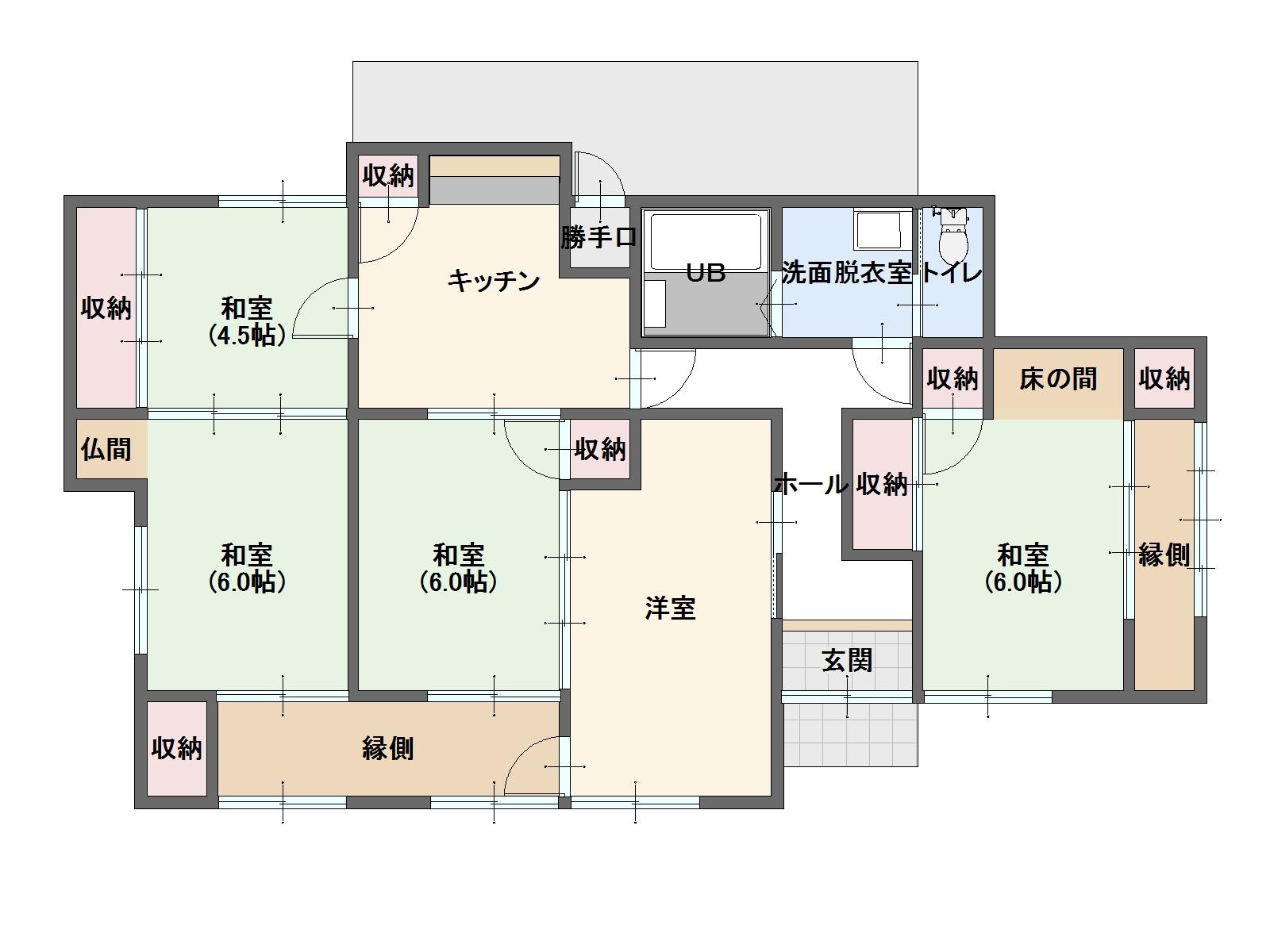 田島 平屋中古住宅 680万円